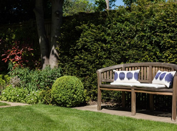 KRGardendesign Bench and Yew Hedge